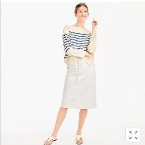 J crew Sailor Tie Skirt! NWT!